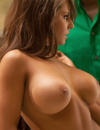 Madison and her lover share a moment of passion and true intensity in their new kitchen.