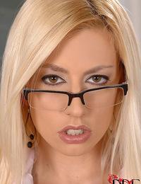 Sexy blonde vixen Jessie Volt is teachers naked sex pet