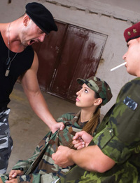Kitty knows how to satisfy bi sexual fantasies in the army