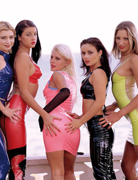 Five hot girls just cant seem to get enough of this one cock