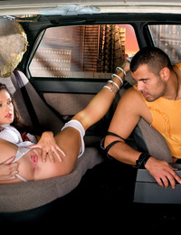 Hot model from the future getting fucked in a galactic cab