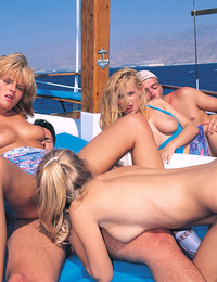 Slutty sexy girls who love to make things happen on a boat