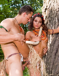 Teenage amazon hooker getting naughty in a jungle adventure