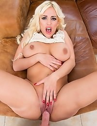 Blondie Fesser, exhibits her big Ass in a POV