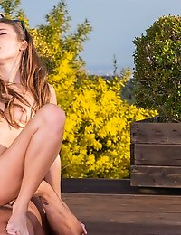 Talia Mint, Stunning Teen Enjoying Yoga Time